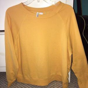 yellow H&M sweatshirt